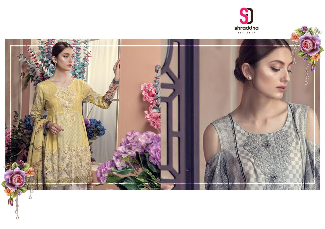 2a67b43f50 Shraddha designer Aayra pure cotton fancy Embroidery Pakistani suits  cheapest rate surat. DOWNLOAD ZIP