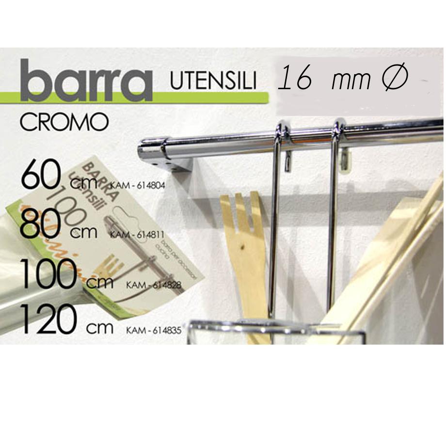 Barra Portautensili Cucina Inox  Pratiko Store