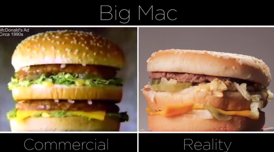 McDonalds le differenze tra pubblicit e realt