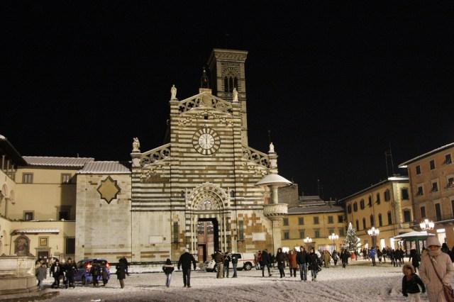 Prato sotto la neve nel 2010 - Foto Valentina Ceccatelli