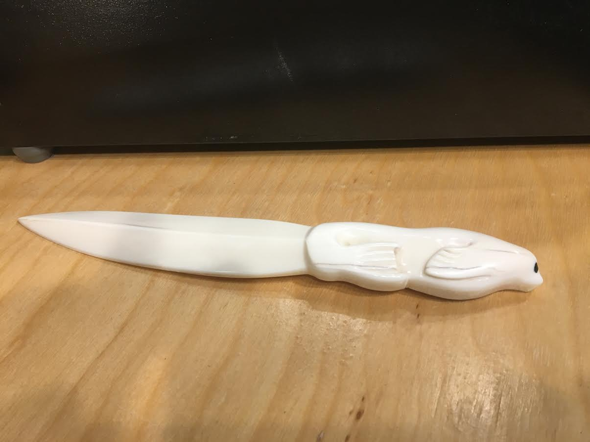 Ivory Seal Letter Opener by Bryon Amos