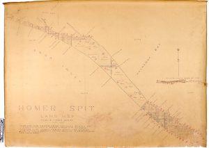 1961 Homer Spit Land Map