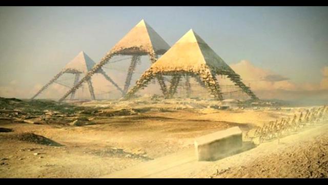 Pyramiden Von Gizeh Bau