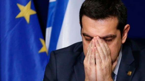 Greece's PM Tsipras addresses a news conference after an EU leaders summit in Brussels