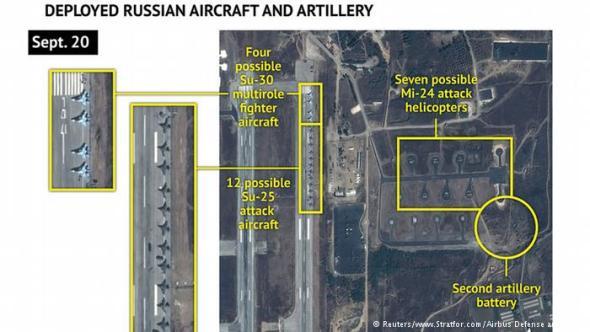 Сателитски снимки од руски авиони во Латакиа