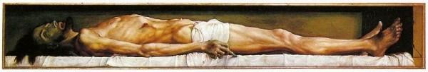 Ганс Гольбейн-младший. Мёртвый Христос в гробу