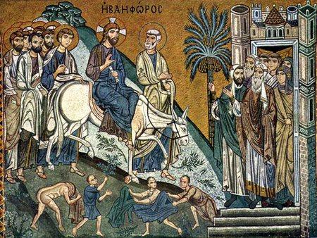 Вход Господень в Иерусалим. Шествие на осляти