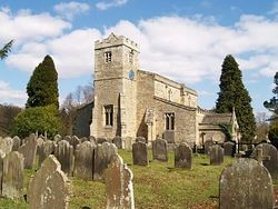 The beautiful Lastingham Church which has 7th century Saxon and early Norman origins