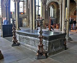 Venerable Bede's Tomb, Durham Cathedral.