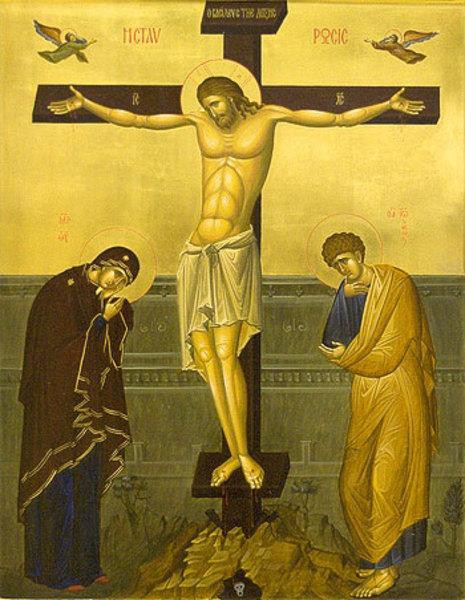 Распятие. Икона работы сестер Ново-Тихвинского монастыря