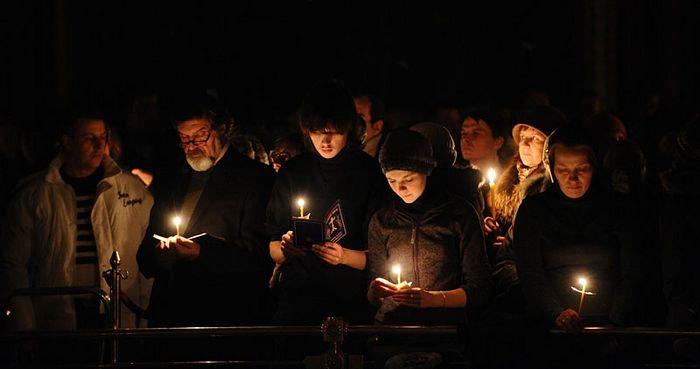 Чтение Великого канона. Фото: Патриархия.Ru