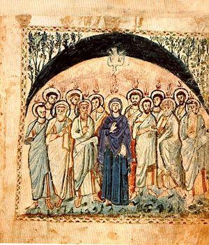 Сошествие Святого Духа. «Евангелие Рабулы», 586 год