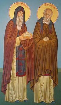 Преподобные Спиридон и Никодим, просфорники Печерcкие