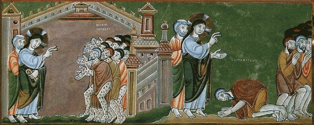 Image result for jesus and ten lepers