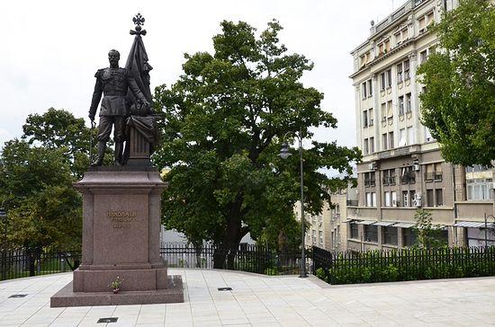 Споменик цару и страстотрпцу Николају II у Београду. Фото: јером. Игњатије (Шестаков)
