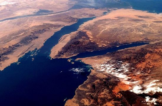 Mt. Sinai and the Gulf of Aqaba