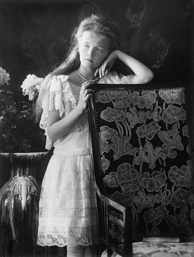 The Grand Duchess Olga Nikolaevna as a young girl.