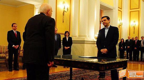 А. Ципрас је први премијер у историји Грчке који је одбио да положи заклетву на Библији