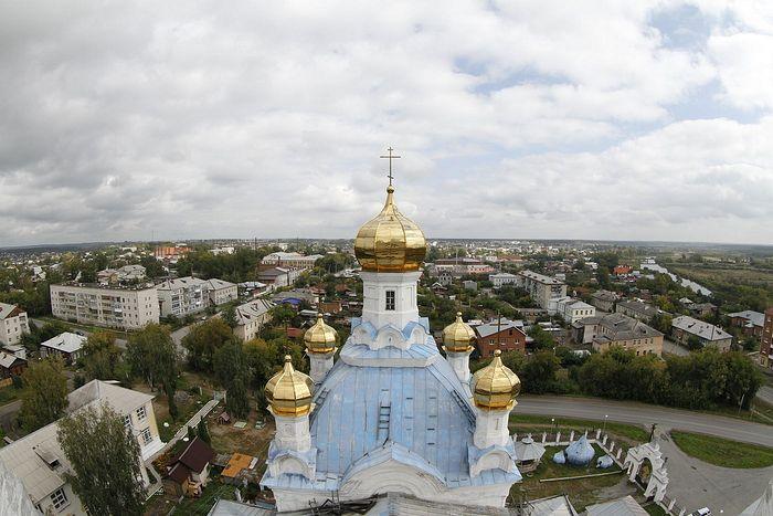 Вид на Камышлов с колокольни Покровского собора