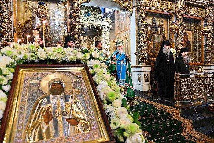 Слово в годовщину интронизации святителя Тихона после молебна в Донском монастыре