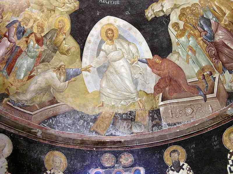 Слизане в ада - стенопис от The Holy Savior in Chora - Parecclesion of the Anastasis. Photo: patriarchat.org.
