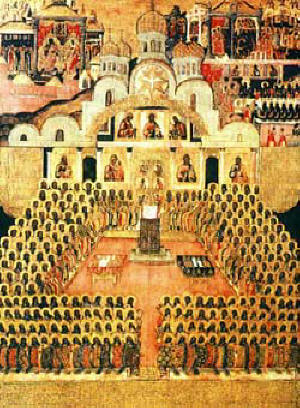 Тържество на Православието. Седми Вселенски Събор, руска икона