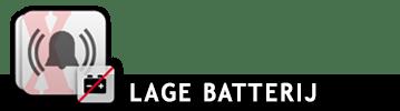 Lage batterij