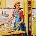 fifties housewife kitchen e1582220409443 - Remote Leadership: Mobile Arbeit gesund gestalten