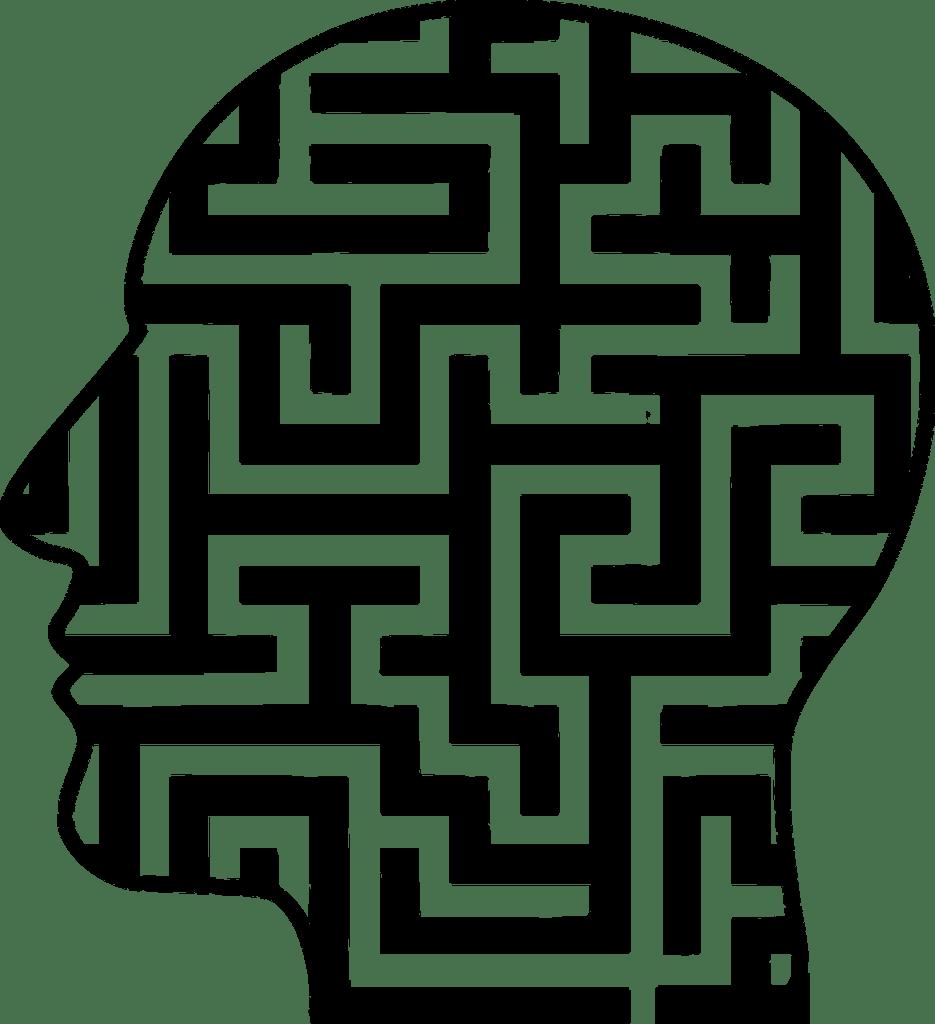 Unbewusstes Labyrinth Kopf
