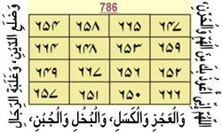Qarz se nijaat hasil kernay ka naqsh/taweez.