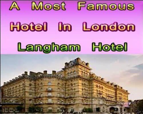 In London Langham Hotel