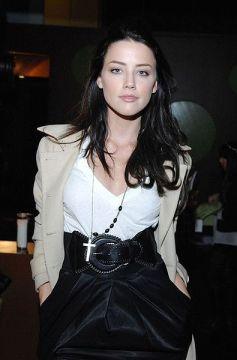 Amber Heard Rosary Necklace