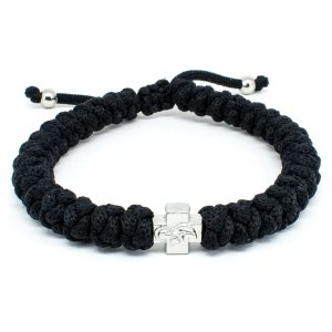 Adjustable Black Prayer Bracelet-0