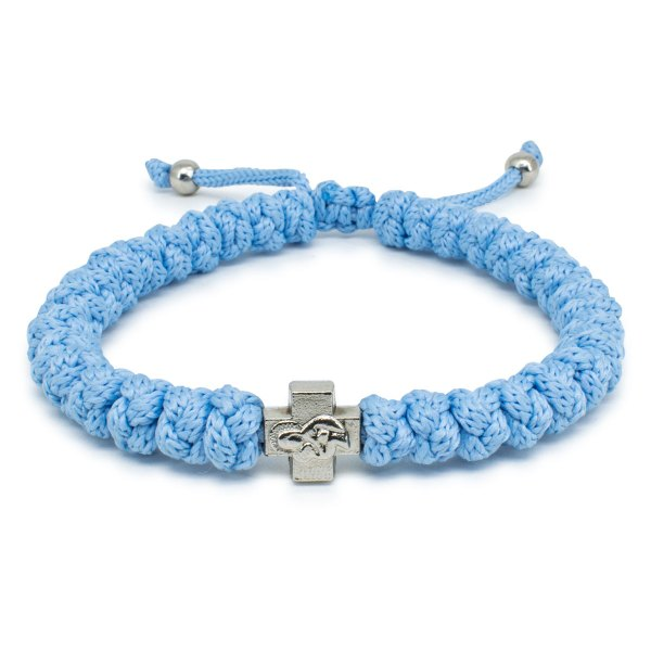 Adjustable Light Blue Prayer Bracelet-0