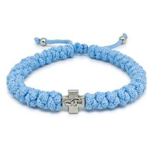 Schönes Verstellbares licht blaue orthodox Knoten Armband