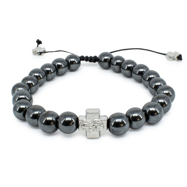 Hematite Stone Prayer Bracelet-0