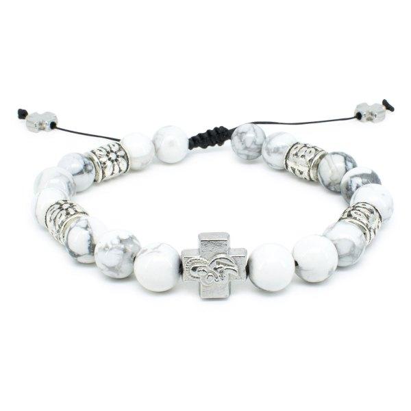 "Howlite Stone Prayer Bracelet ""Twilight""-0"