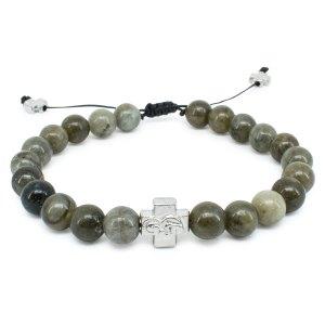 Labradorite Stone Prayer Bracelet-0