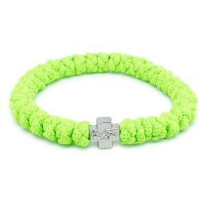 Flamboyantes Neongrün orthodox Knoten Armband
