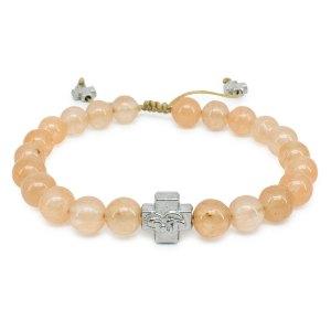 Berückendes orangen Candy Jadestein orthodox Armband