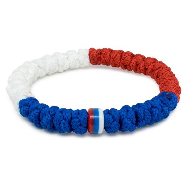 Flottes Rot, Weiss und Blaue orthodox Knoten Armband