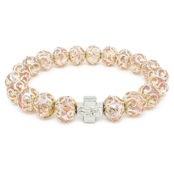 "Rose Glass Prayer Bracelet ""Petra""-0"