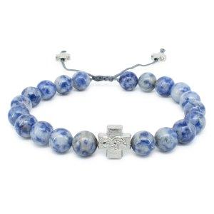 Sodalite Stone Prayer Bracelet-0
