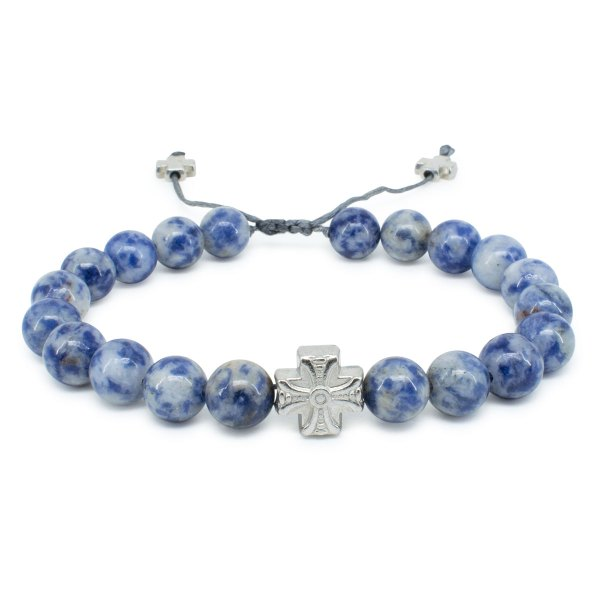 Graceful Sodalite Stone Prayer Bracelet