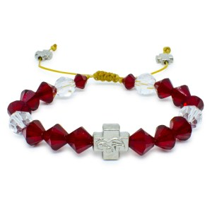 "Swarovski Crystal Prayer Bracelet ""Ruby""-0"