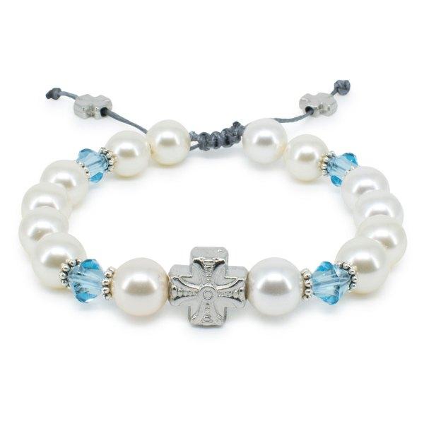 "Hinreißendes Swarovski Kristal und Perlen orthodox Armband ""Eve"""