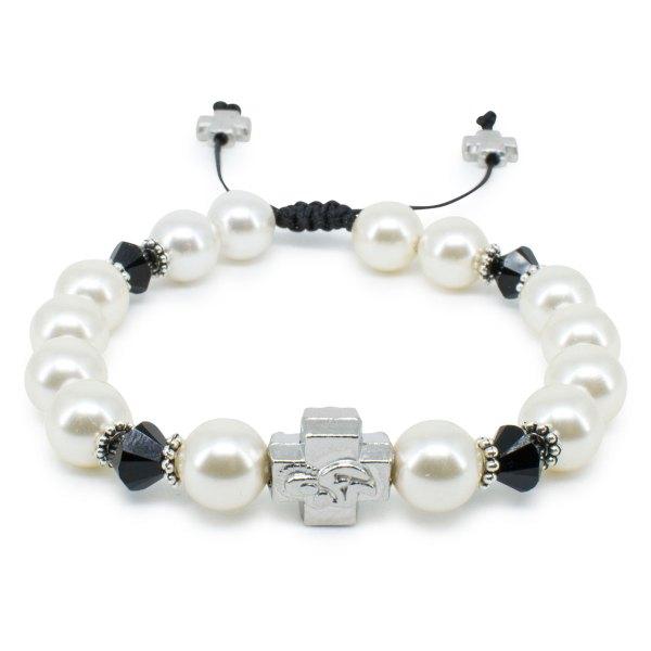 "Umwerfendes Swarovski Kristal und Perlen orthodox Armband ""Irini"""