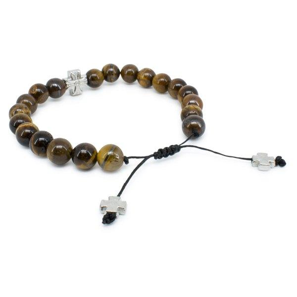 Spectacular Tiger-Eye Stone Prayer Bracelet
