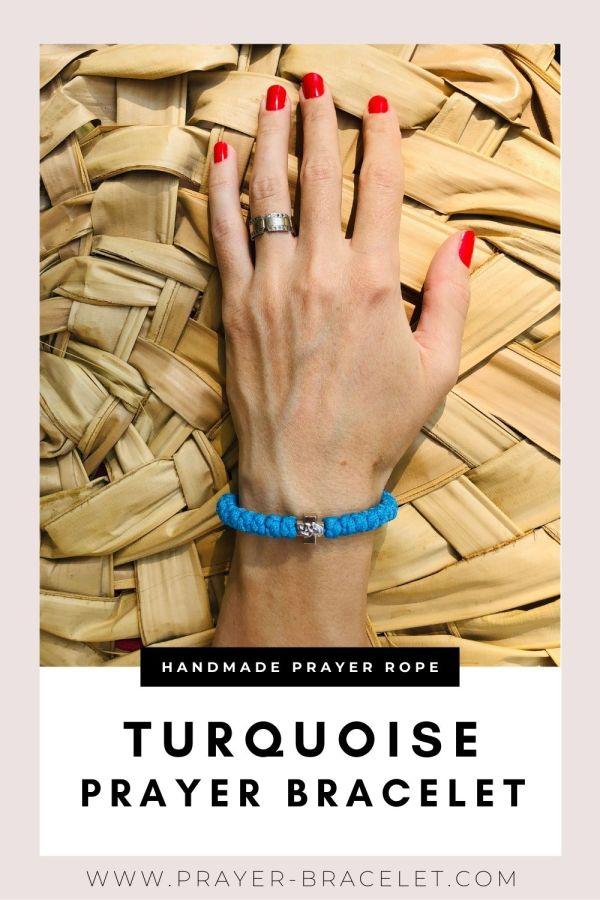 Turquoise Prayer Bracelet - Prayer Rope - Komboskini