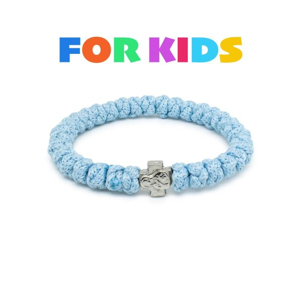 Traditional Light blue prayer bracelet for kids